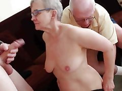Blowjob, Facial, Granny, Group Sex, Swinger