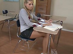 Student, Blonde, Cute, Babe